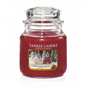 Świeca Yankee Candle Christmas Magic, średni słoik (411g)