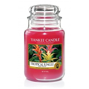 Świeca Yankee Candle Tropical Jungle, duży słoik (623g)