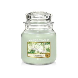 Świeca Yankee Candle Afternoon Escape, średni słoik (411g)