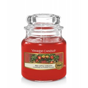 Świeca Yankee Candle Red Apple Wreath, mały słoik (104g)
