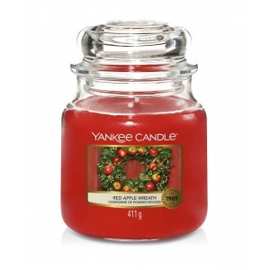 Świeca Yankee Candle Red Apple Wreath, średni słoik (411g)