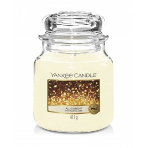 Świeca Yankee Candle All is Bright, średni słoik (411g)