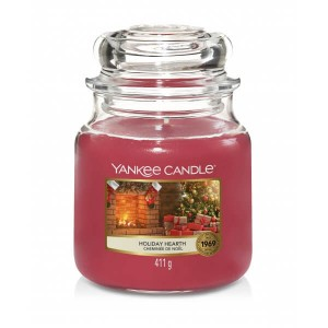 Świeca Yankee Candle Holiday Hearth, średni słoik (411g)