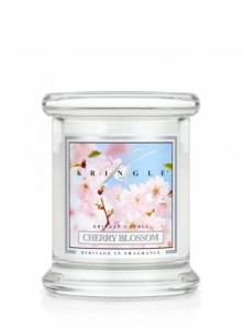 Świeca Kringle Candle Cherry Blossom, mini słoik (128g)