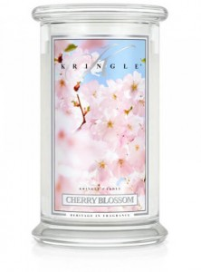 Świeca Kringle Candle Cherry Blossom, duży słoik (623g)
