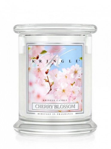 Świeca Kringle Candle Cherry Blossom średni słoik (454g)